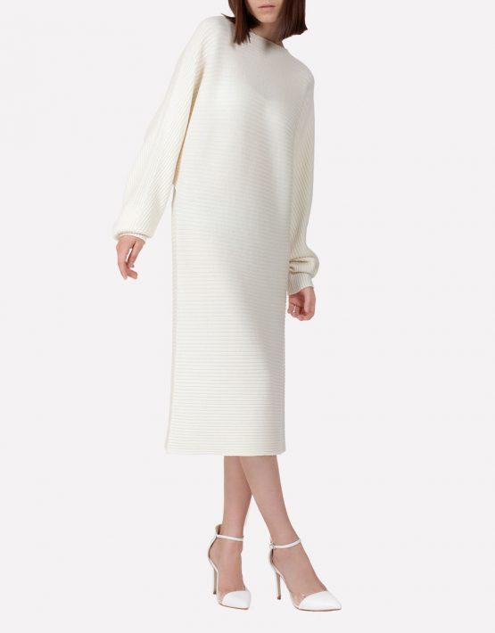 Бесшовное шерстяное платье JND_17-010615_milk, фото 5 - в интеренет магазине KAPSULA