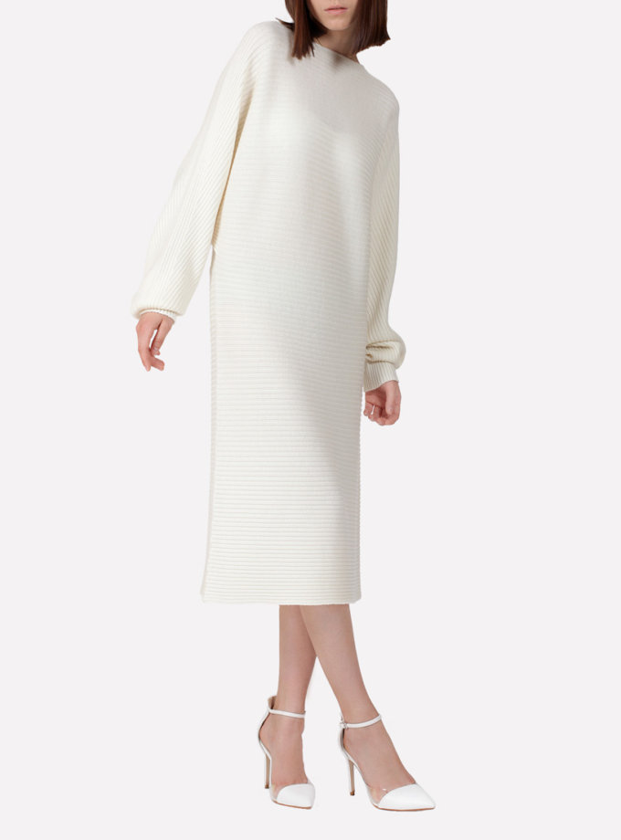 Бесшовное шерстяное платье JND_17-010615_milk, фото 1 - в интернет магазине KAPSULA