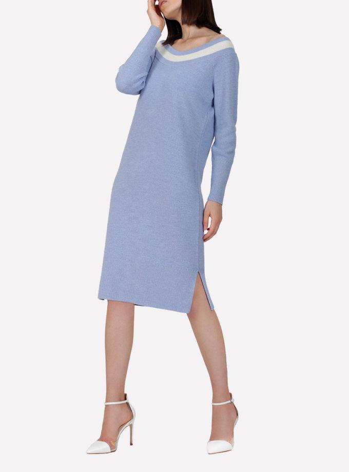 Вязаное шерстяное платье JND_16-010613_blue, фото 1 - в интеренет магазине KAPSULA