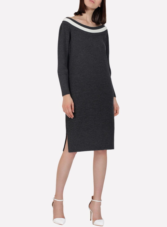 Вязаное шерстяное платье  JND_16-010613_gr, фото 1 - в интернет магазине KAPSULA