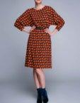Платье с асимметричной юбкой в принт SHKO_18038001_outlet, фото 5 - в интеренет магазине KAPSULA