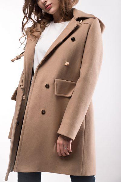 Утепленное пальто из шерсти с капюшоном WNDR_fw18cd04, фото 1 - в интеренет магазине KAPSULA