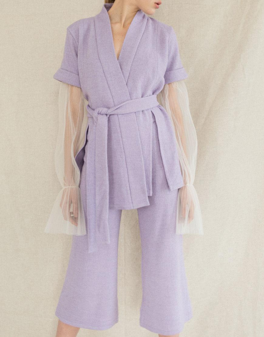 Костюм-кимоно из тонкой шерсти