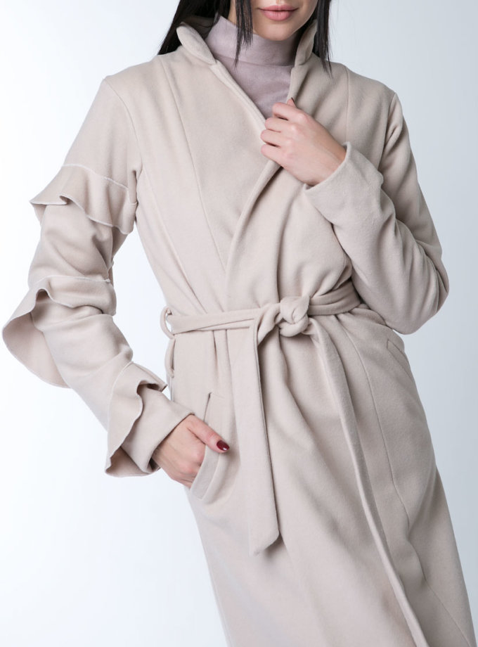 пальто из тонкой шерсти XM_10125_outlet, фото 1 - в интеренет магазине KAPSULA