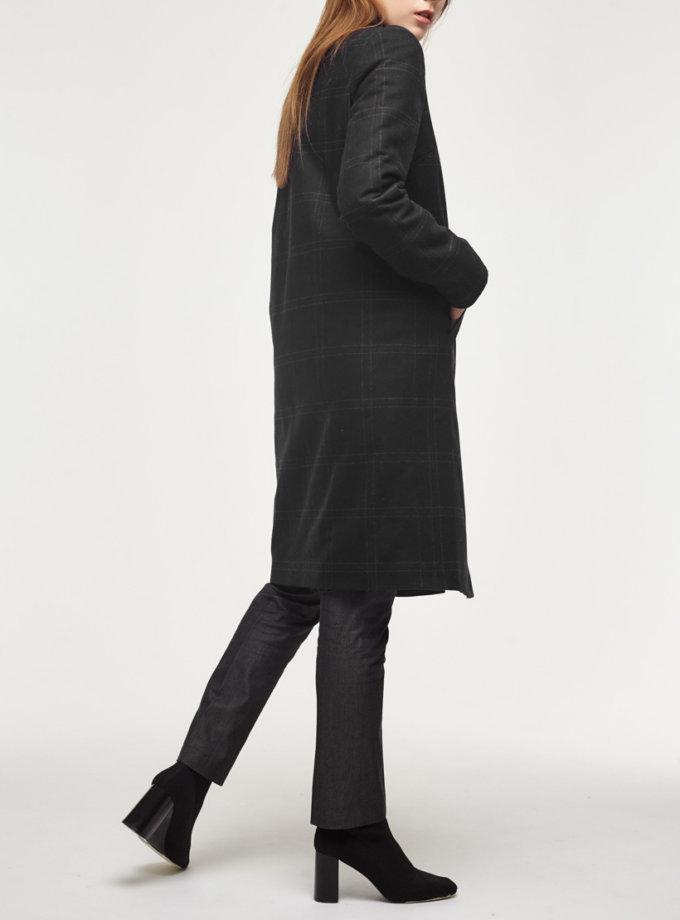Утепленное пальто из шерсти PPM_PM-18_blue, фото 1 - в интернет магазине KAPSULA
