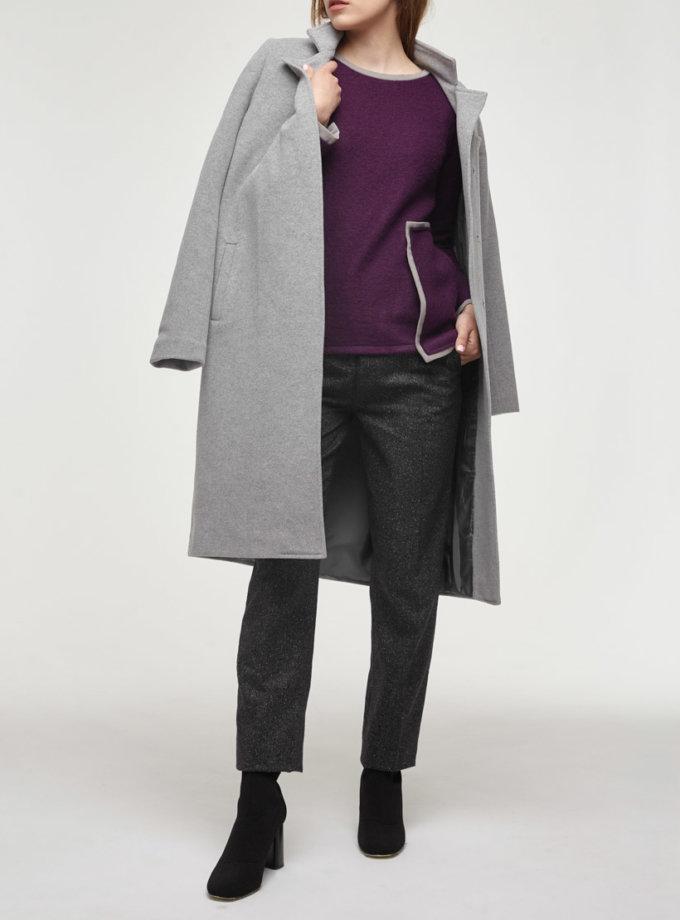 Утепленное пальто из шерсти PPM_PM-18_gray, фото 1 - в интеренет магазине KAPSULA