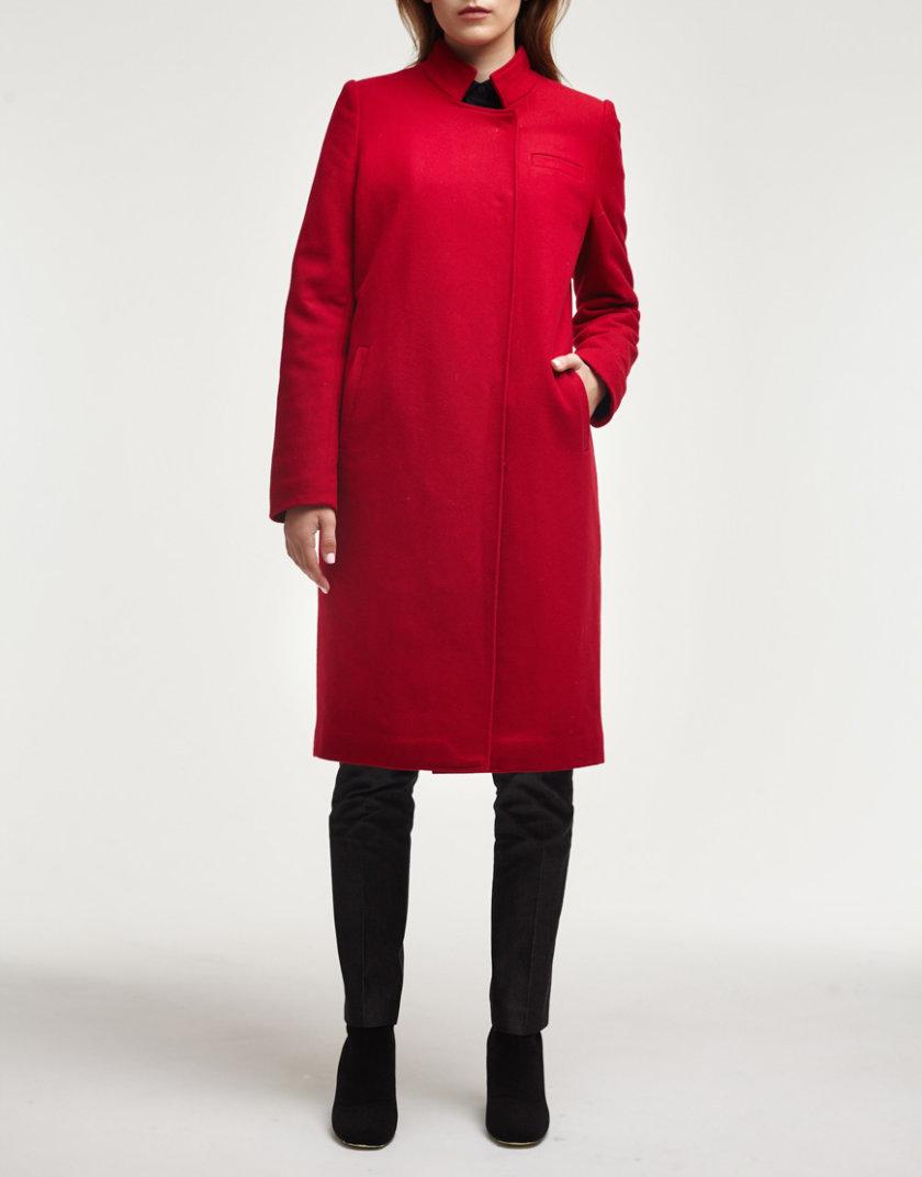 Утепленное пальто из шерсти PPM_PM-18_red, фото 1 - в интернет магазине KAPSULA