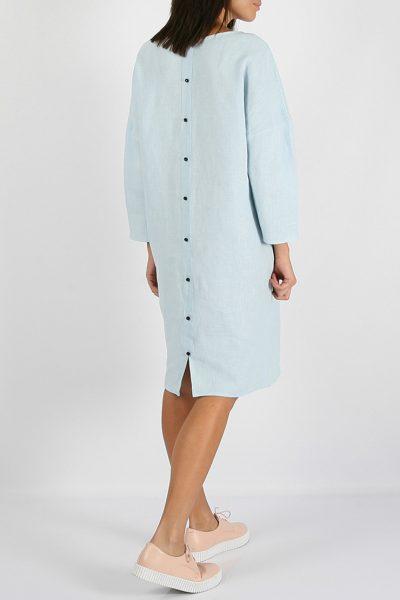 Льняное платье с пуговицами на спине   MRND_M2-1, фото 1 - в интеренет магазине KAPSULA