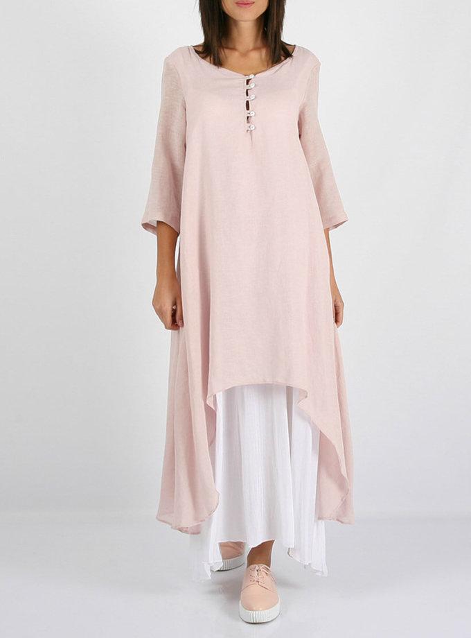 Льняное асимметричное платье  MRND_М23-1, фото 1 - в интернет магазине KAPSULA