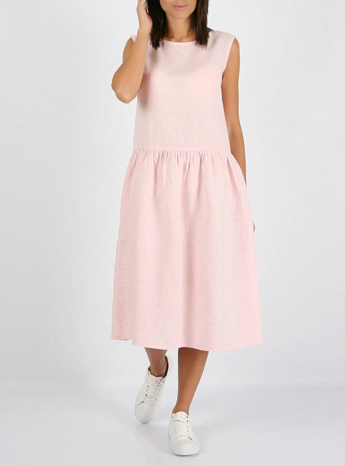 Свободное льняное платье   MRND_М9-3, фото 1 - в интернет магазине KAPSULA