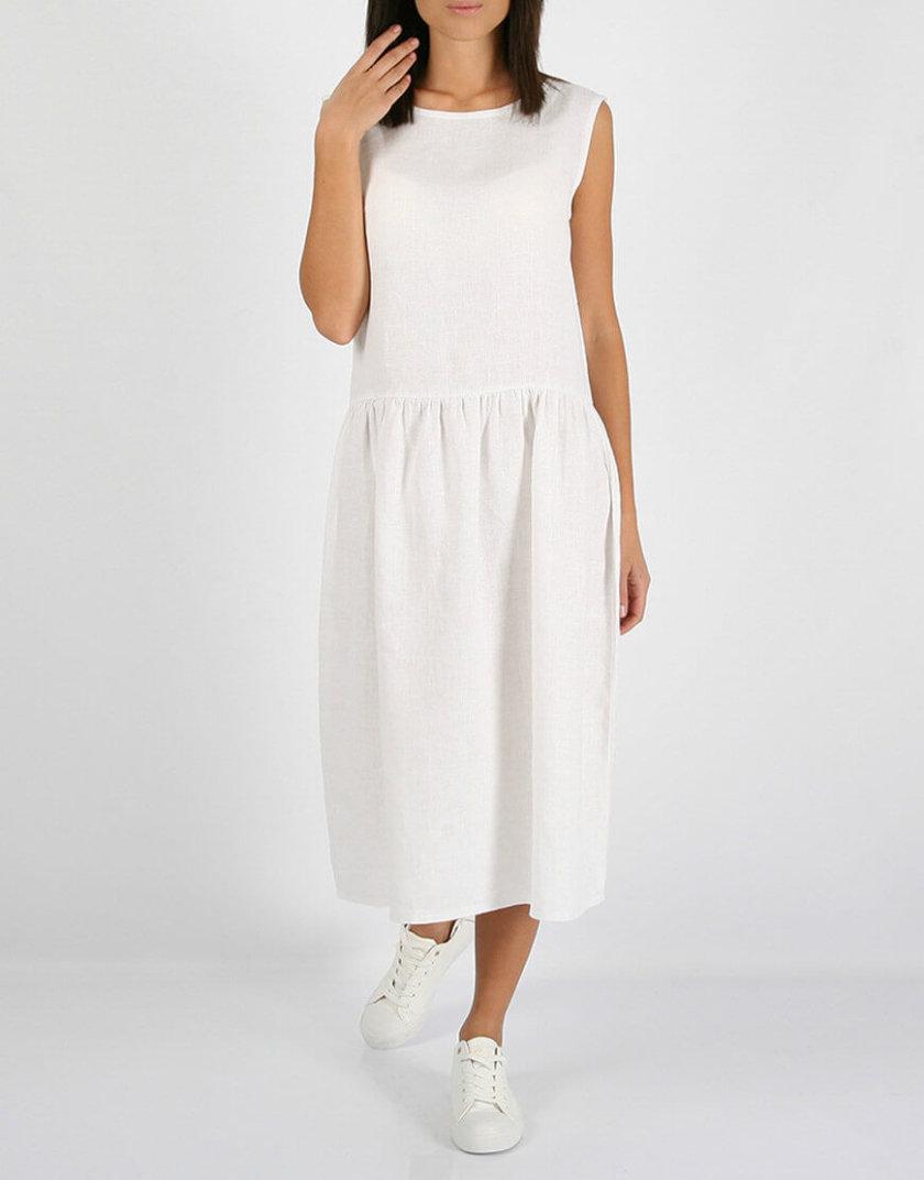 Свободное льняное платье MRND_М9-4, фото 1 - в интернет магазине KAPSULA