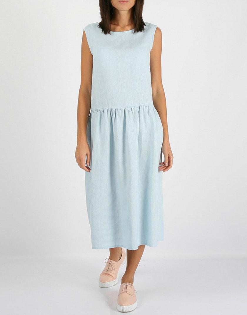 Свободное льняное платье MRND_М9-5, фото 1 - в интернет магазине KAPSULA