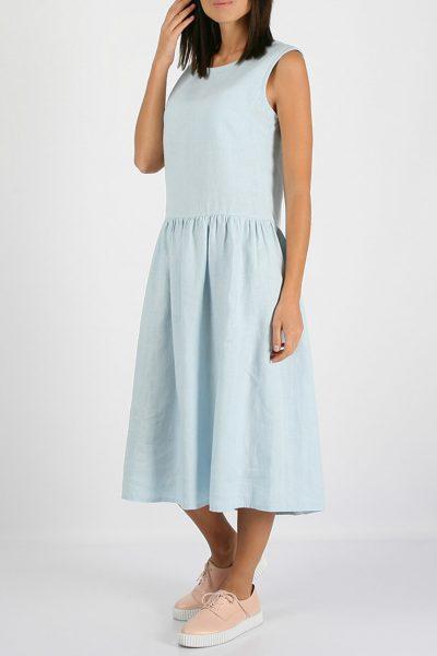 Свободное льняное платье MRND_М9-5, фото 1 - в интеренет магазине KAPSULA