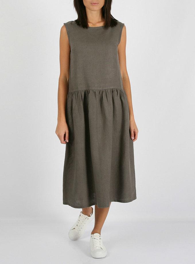 Свободное льняное платье MRND_М9-6, фото 1 - в интернет магазине KAPSULA