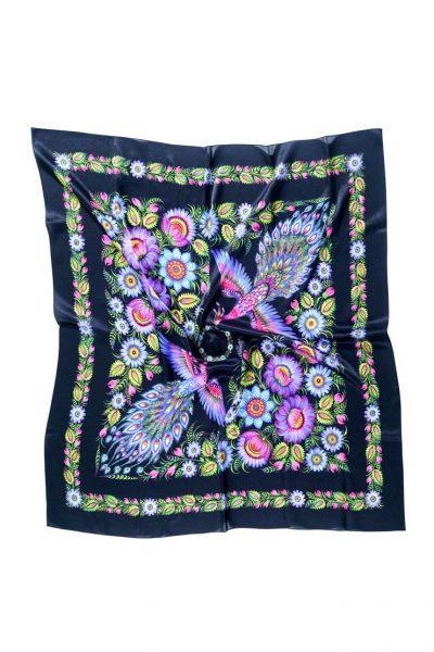 Шелковый платок Волшебные жар-птицы   OLZ_ KS_SS3, фото 3 - в интеренет магазине KAPSULA
