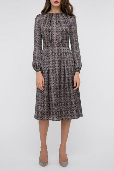 Платье со вшитым поясом принт SHKO_17049002, фото 5 - в интеренет магазине KAPSULA
