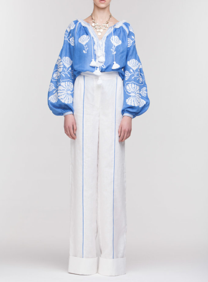 Вышиванка Голубая лилия FOBERI_01139, фото 1 - в интернет магазине KAPSULA