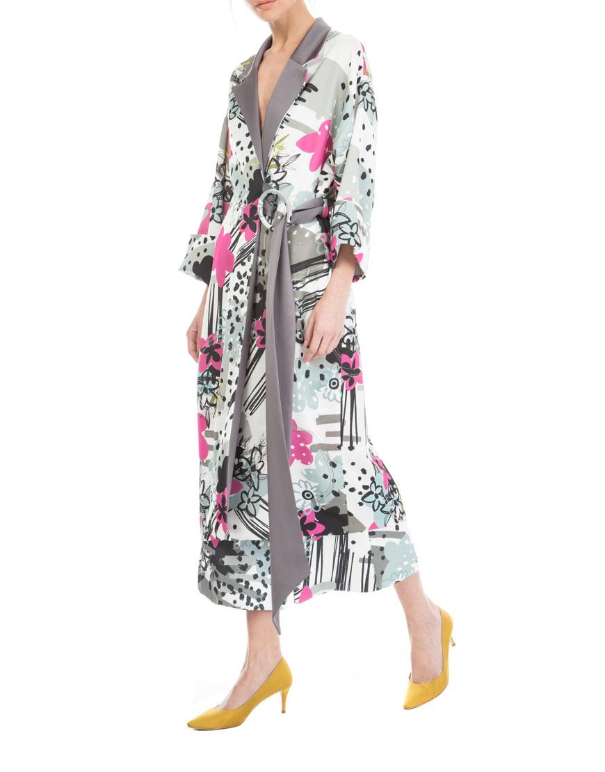 Платье-халат в принт