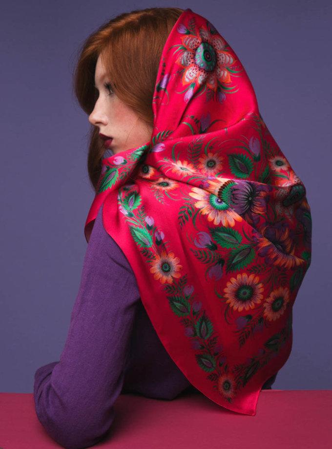 Шелковый платок Страстные объятия   OLZ_ KS_SS8, фото 1 - в интеренет магазине KAPSULA