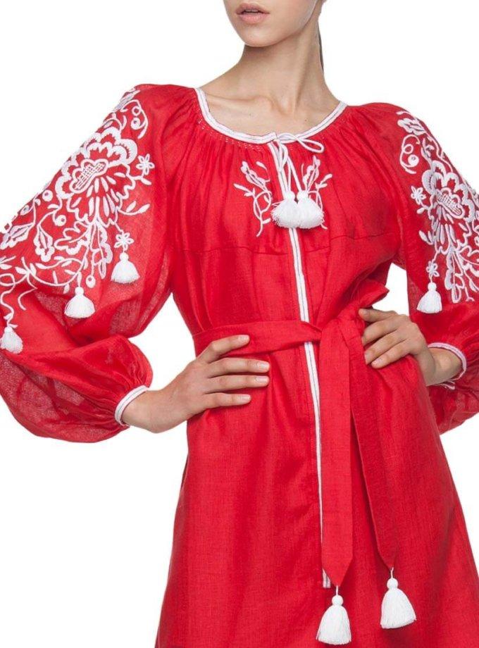 Вышитый комбинезон Красуня FOBERI_01005, фото 1 - в интеренет магазине KAPSULA