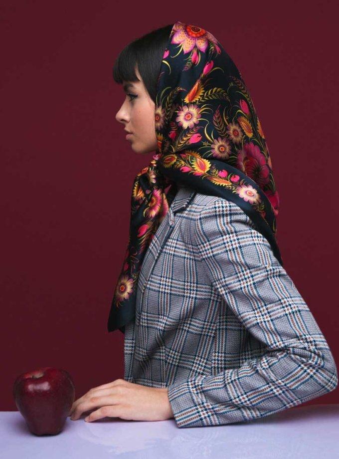 Шелковый платок Чорне золото OLZ_ KS_SS5, фото 1 - в интеренет магазине KAPSULA