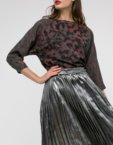 Платье А-силуэта принт цветы SHKO_17041005, фото 4 - в интеренет магазине KAPSULA