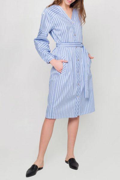 Платье с пышными рукавами CYAN_DS_J01, фото 1 - в интеренет магазине KAPSULA