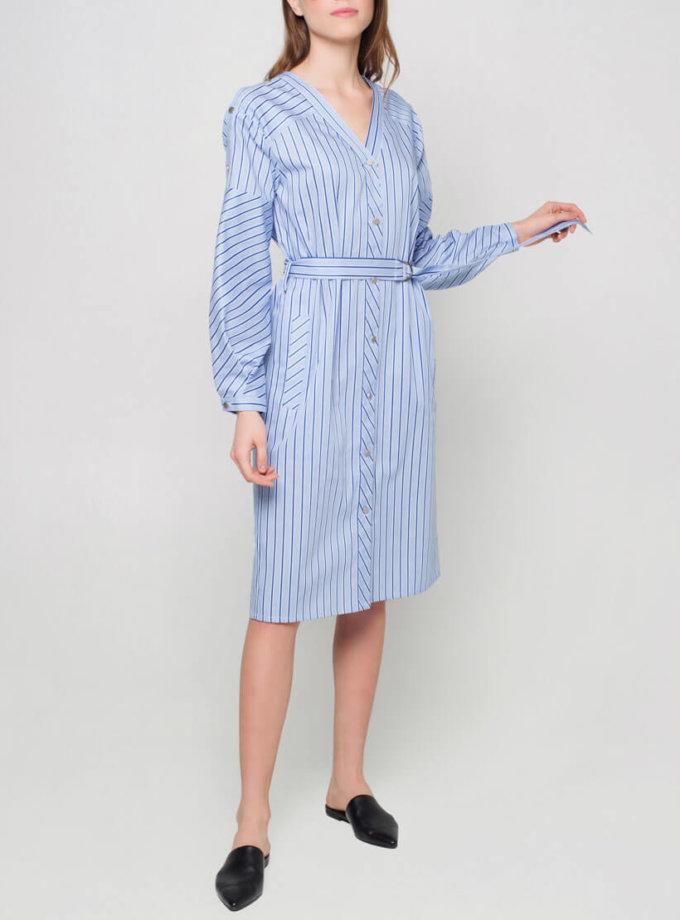 Платье с пышными рукавами CYAN_DS_J01, фото 1 - в интернет магазине KAPSULA