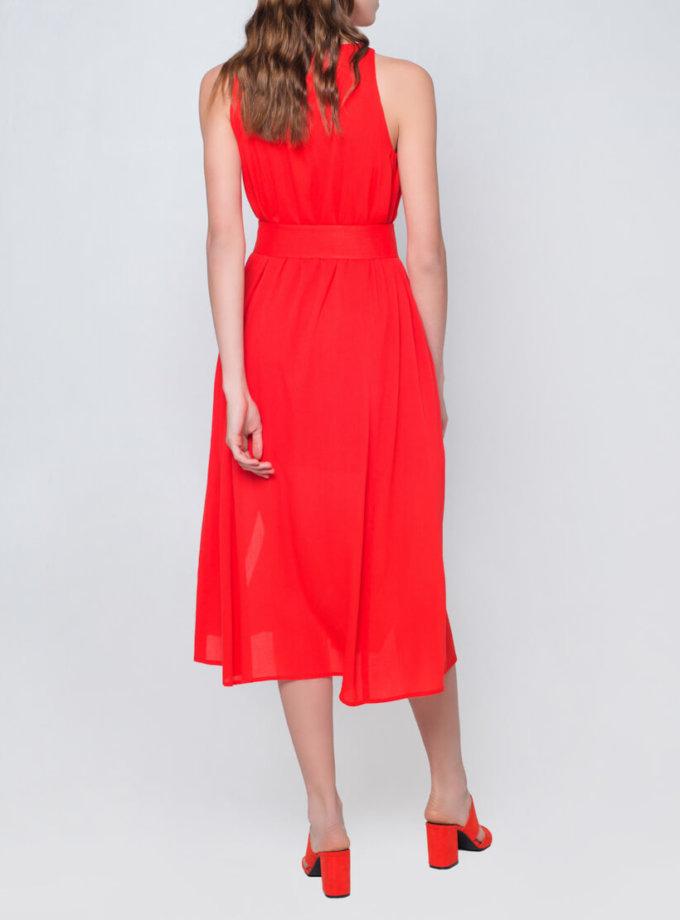 Платье миди с поясом CYAN_DS_J06, фото 1 - в интернет магазине KAPSULA