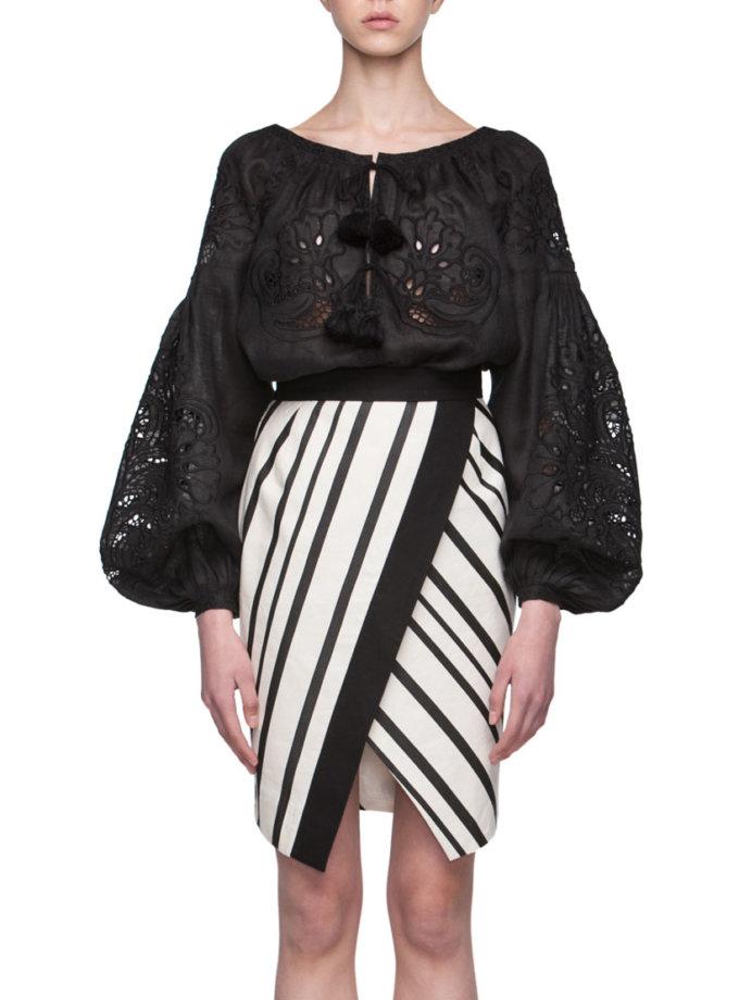 Вышиванка Total Black FOBERI_01141, фото 1 - в интернет магазине KAPSULA