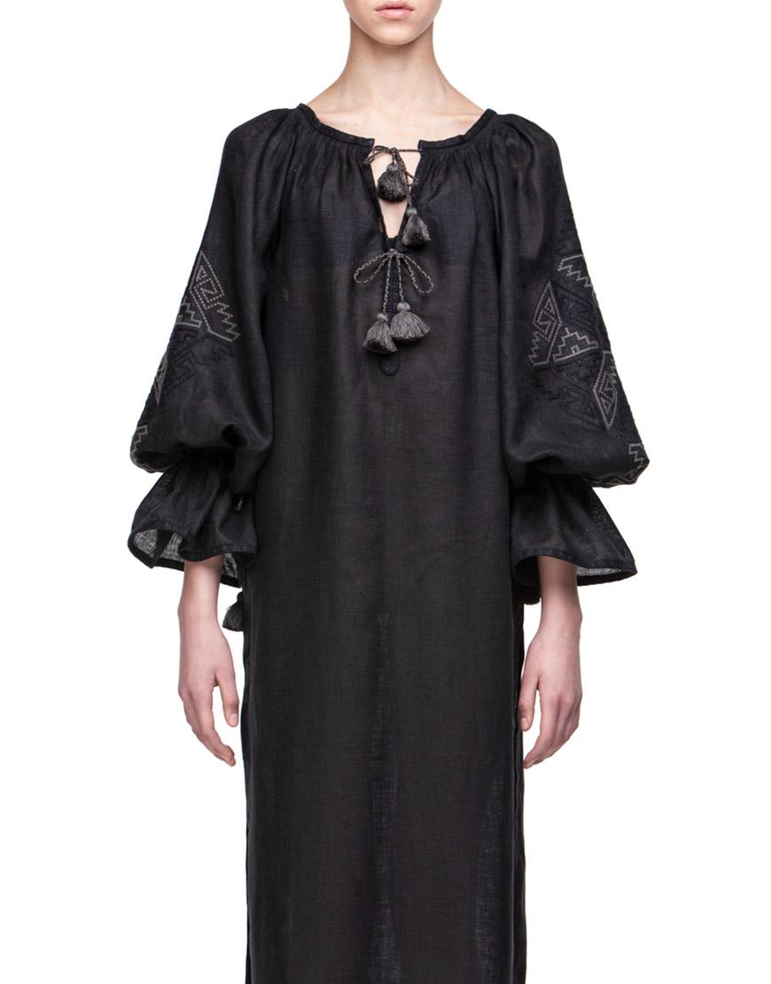 Прозрачное платье из льна для пляжа Катерина