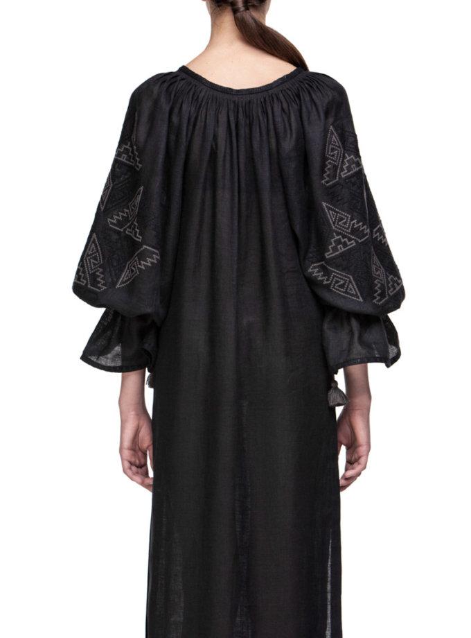 Прозрачное платье из льна для пляжаКатерина FOBERI_01135, фото 1 - в интеренет магазине KAPSULA