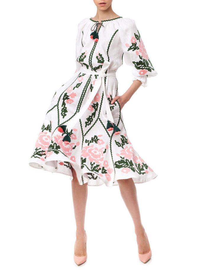 Платье-вышиванка Марта FOBERI_01152, фото 1 - в интеренет магазине KAPSULA