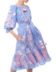 Платье-вышиванка «Золото» FOBERI_01105, фото 5 - в интеренет магазине KAPSULA