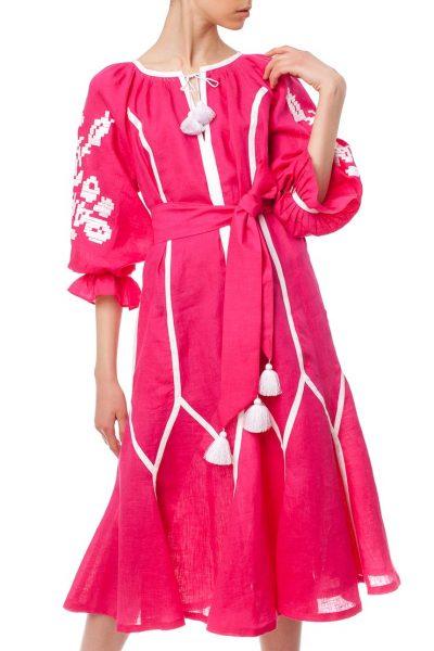 Платье-вышиванка Утренний цветок FOBERI_01156, фото 2 - в интеренет магазине KAPSULA