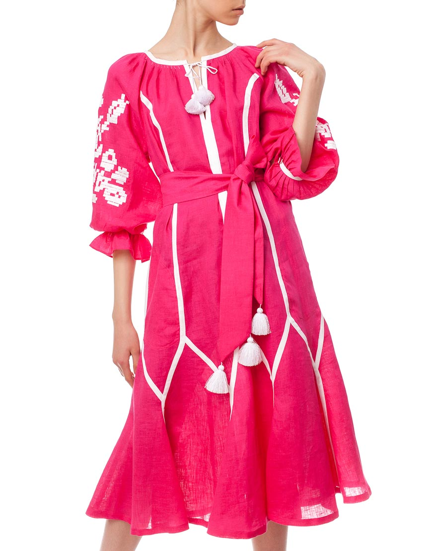 Платье-вышиванка Утренний цветок