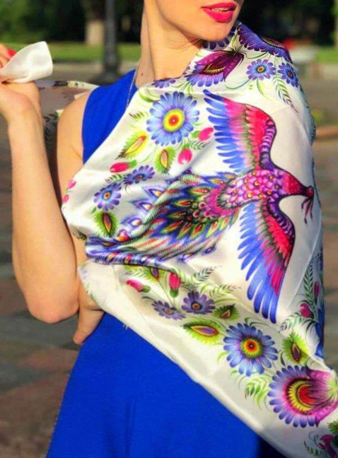 Шелковый платок Волшебные жар-птицы OLZ_ KS_SS1, фото 1 - в интеренет магазине KAPSULA