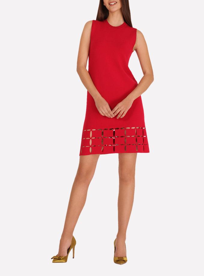 Трикотажное платье  А-силуэта   JND_18-100605_red, фото 1 - в интеренет магазине KAPSULA