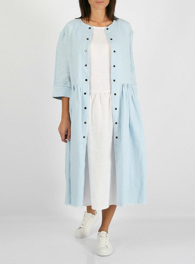 Льняное платье с бахромой MRND_М25-2, фото 1 - в интернет магазине KAPSULA