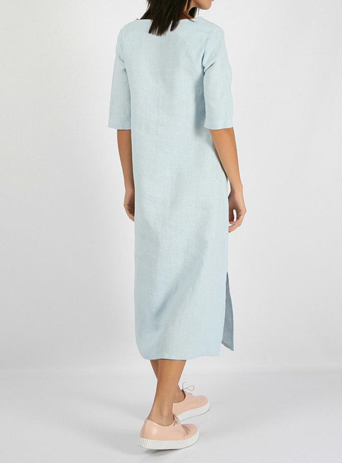 Льняное платье с разрезами по бокам MRND_М26-5, фото 1 - в интернет магазине KAPSULA