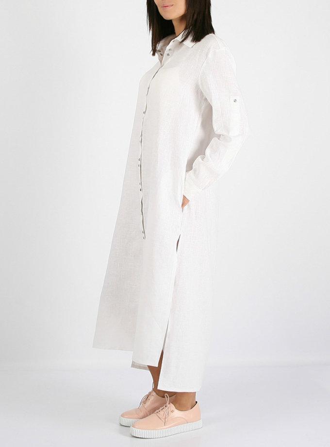 Льняное платье-рубашка MRND_М3-1, фото 1 - в интернет магазине KAPSULA