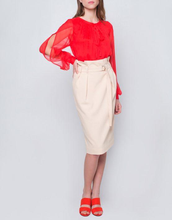 Блуза с пышными рукавами CYAN_TP_J03, фото 5 - в интеренет магазине KAPSULA