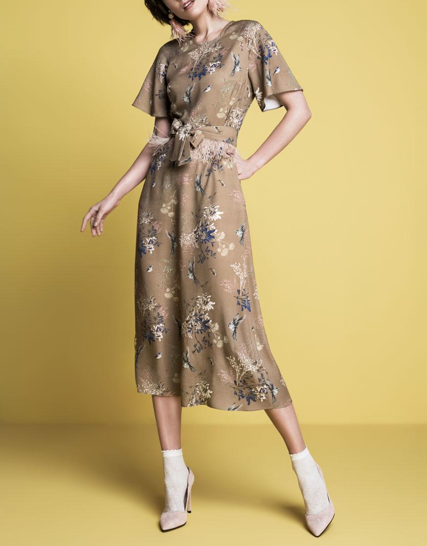 Платье А-силуэта из вискозы