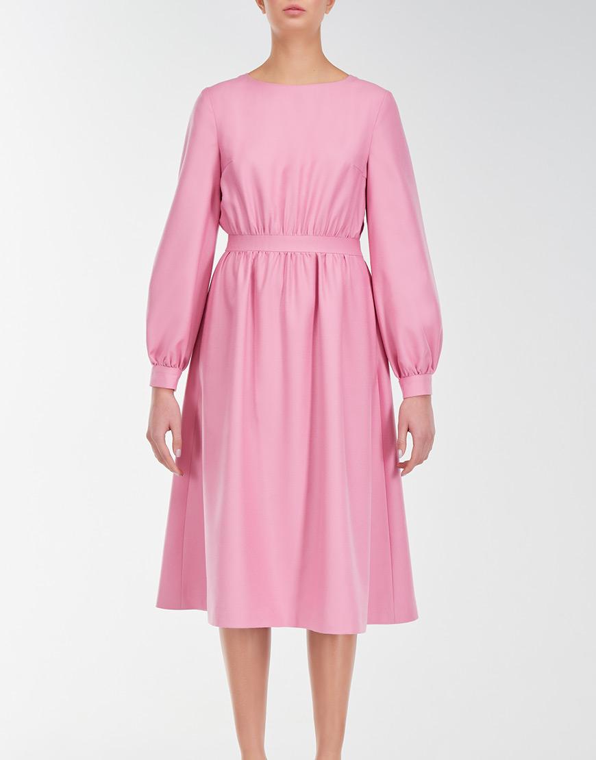 Платье-миди с вышивкой на спине