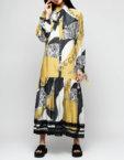 Платье с рюшами прямого силуэта AY_2301, фото 4 - в интеренет магазине KAPSULA