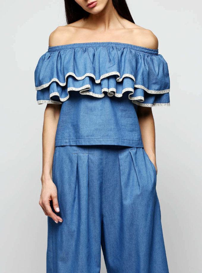 Блуза с рюшами AY_2294, фото 1 - в интернет магазине KAPSULA
