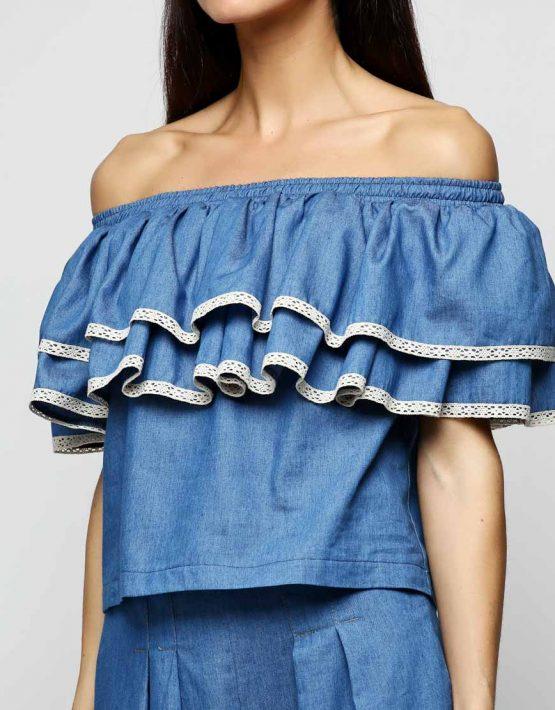 Блуза с рюшами AY_2294, фото 3 - в интеренет магазине KAPSULA
