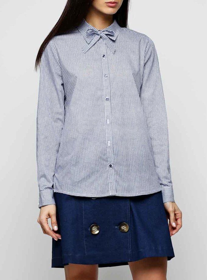 Хлопковая рубашка со стойкой AY_2303, фото 1 - в интеренет магазине KAPSULA