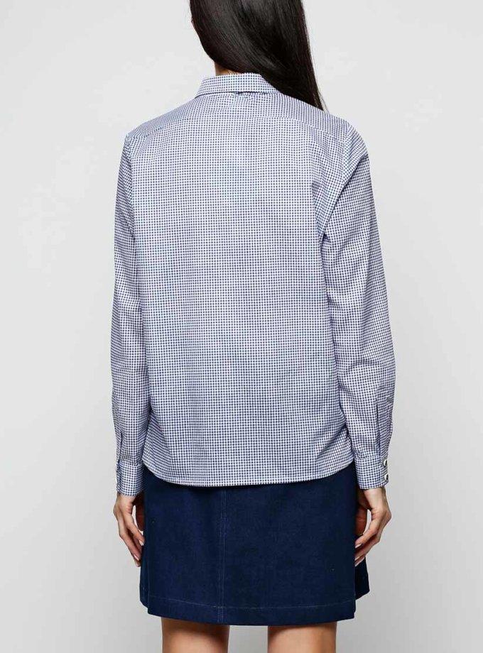 Хлопковая рубашка со стойкой AY_2303, фото 1 - в интернет магазине KAPSULA