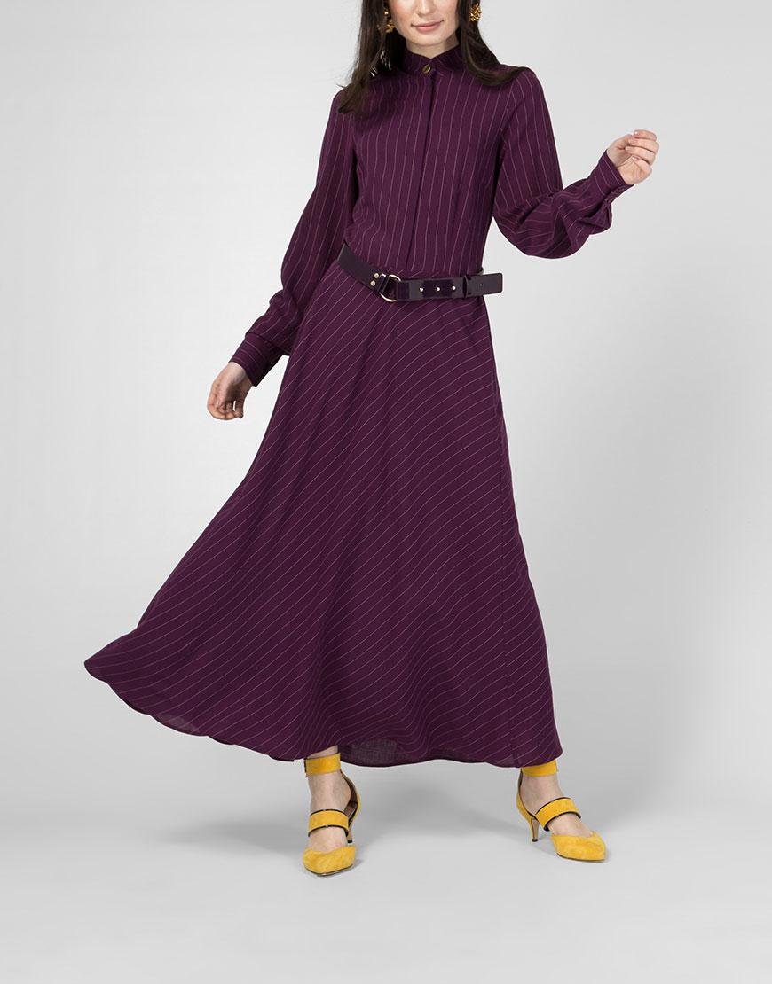 Платье из шерсти в пол
